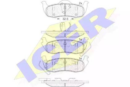 Тормозные колодки 'ICER 181766'.