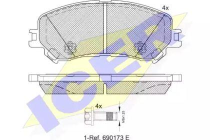 Гальмівні колодки 'ICER 182259'.