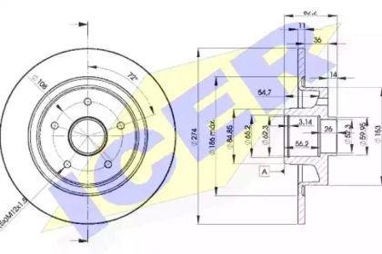 Тормозной диск 'ICER 78BD2236-1'.