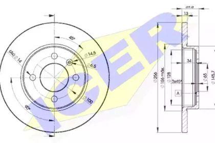Тормозной диск 'ICER 78BD3392-2'.