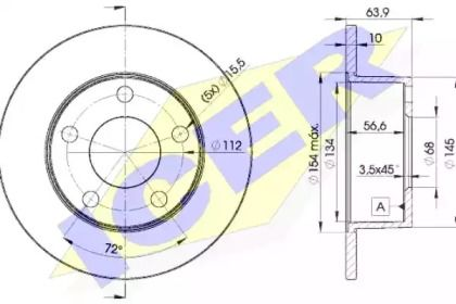 Тормозной диск 'ICER 78BD4060-2'.