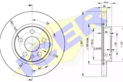 Вентилируемый тормозной диск 'ICER 78BD4683-2'.