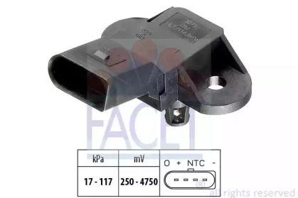 Датчик давления наддува на SKODA OCTAVIA A5 'FACET 10.3072'.