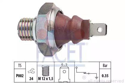 Датчик тиску масла FACET 7.0026.