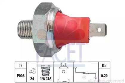 Датчик тиску масла 'FACET 7.0035'.