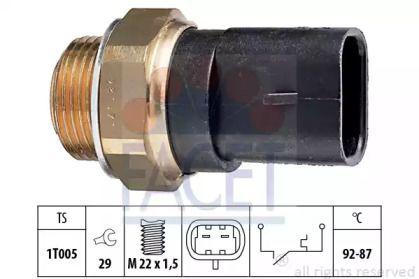 Датчик включения вентилятора на FIAT PALIO 'FACET 7.5031'.