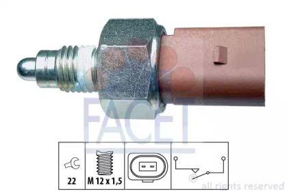 Выключатель фары заднего хода на Сеат Леон FACET 7.6266.
