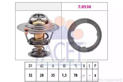 Термостат, охлаждающая жидкость на Хонда Ситиго FACET 7.8267.