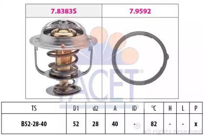 Термостат, охолоджуюча рідина на Мазда СХ5 FACET 7.8383.