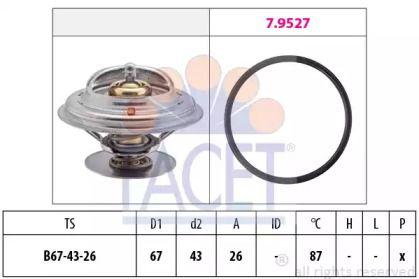 Термостат, охлаждающая жидкость 'FACET 7.8385'.