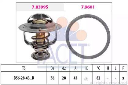 Термостат, охолоджуюча рідина на Мітсубісі Карізма 'FACET 7.8404'.