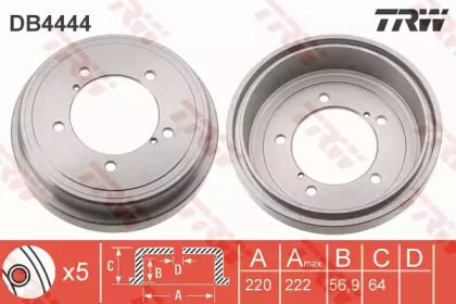Тормозной барабан 'TRW DB4444'.