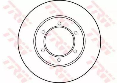 Вентилируемый тормозной диск на TOYOTA 4 RUNNER 'TRW DF1418'.