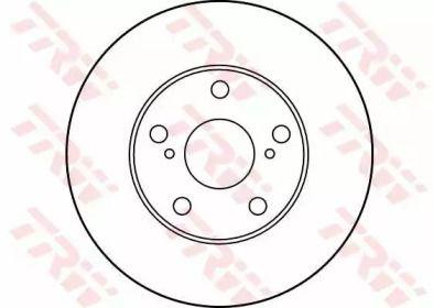 Вентилируемый тормозной диск на TOYOTA SOLARA 'TRW DF1431'.