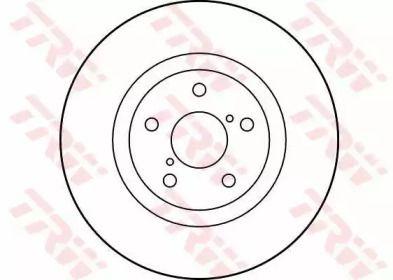Вентилируемый тормозной диск на Субару Легаси Аутбек 'TRW DF1437'.