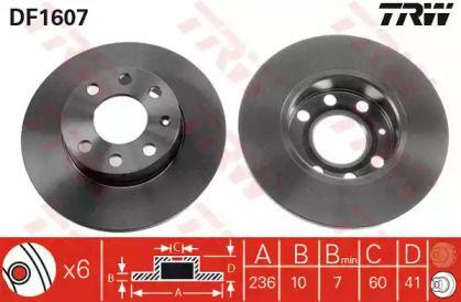 Тормозной диск 'TRW DF1607'.