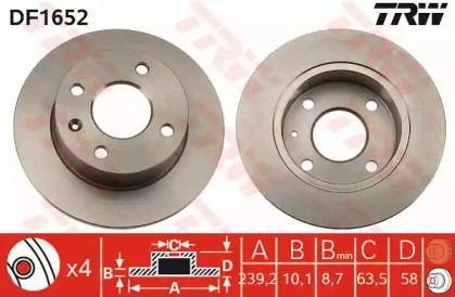 Тормозной диск 'TRW DF1652'.