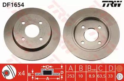 Тормозной диск 'TRW DF1654'.