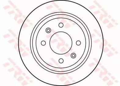 Тормозной диск на Сааб 9000 'TRW DF1669'.