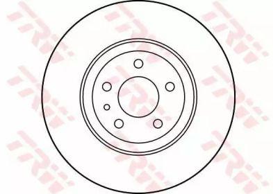 Вентилируемый тормозной диск на Альфа Ромео 147 'TRW DF1749'.