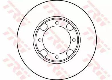 Вентилируемый тормозной диск на HYUNDAI PONY 'TRW DF1958'.