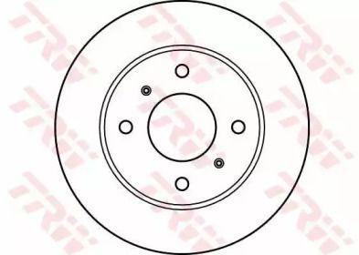 Вентилируемый тормозной диск на NISSAN PRAIRIE 'TRW DF2591'.