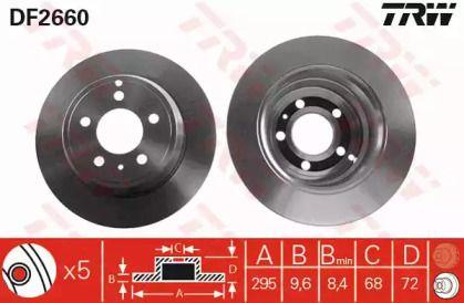 Тормозной диск на Вольво С70 'TRW DF2660'.