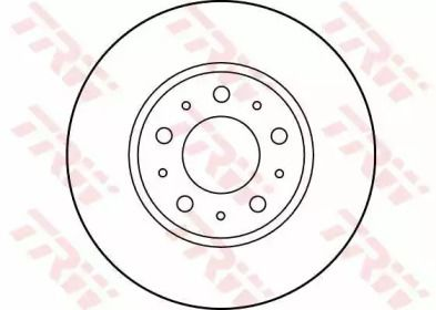 Вентилируемый тормозной диск на VOLVO 850 'TRW DF2671'.