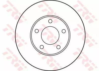 Вентилируемый тормозной диск на Додж Гранд Караван 'TRW DF2678'.