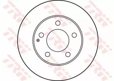 Вентилируемый тормозной диск на Мазда МХ6 TRW DF2704.