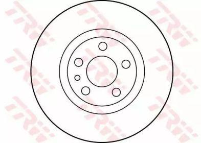 Вентилируемый тормозной диск на LANCIA ZETA 'TRW DF2716'.
