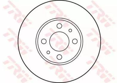 Вентилируемый тормозной диск на Пежо Бипер 'TRW DF2734'.