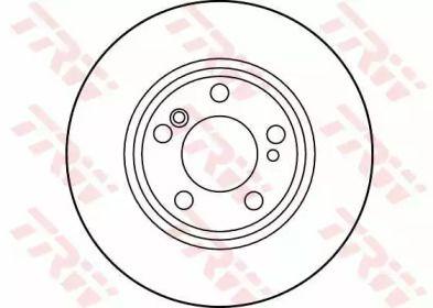 Тормозной диск на MERCEDES-BENZ CLC 'TRW DF2757'.