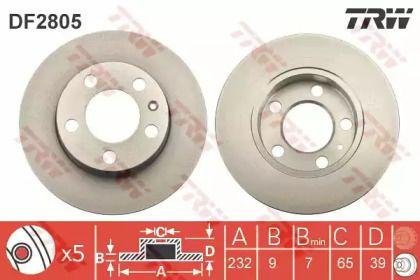 Тормозной диск 'TRW DF2805'.
