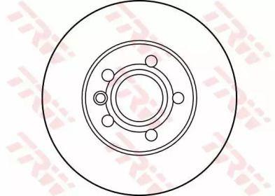 Вентилируемый тормозной диск на VOLKSWAGEN KOMBI 'TRW DF2809'.
