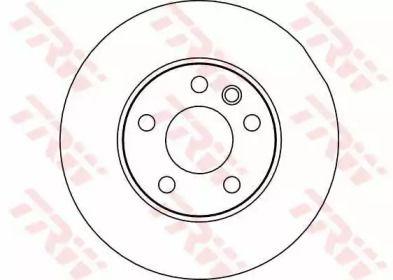 Тормозной диск на Фольксваген Комби 'TRW DF2810'.