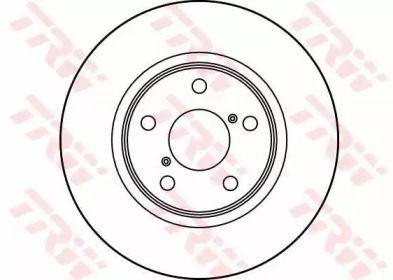 Вентилируемый тормозной диск на SUBARU SVX 'TRW DF3091'.