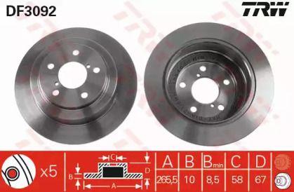 Тормозной диск на Субару Легаси Аутбек 'TRW DF3092'.