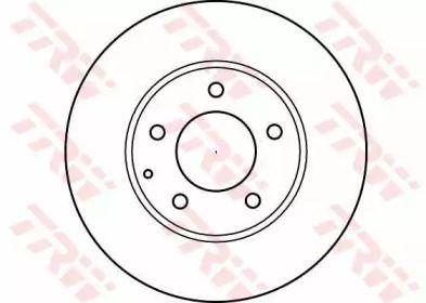 Вентильований гальмівний диск на MAZDA XEDOS 9 'TRW DF4012'.
