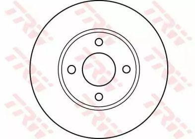 Вентилируемый тормозной диск на NISSAN SUNNY 'TRW DF4019'.
