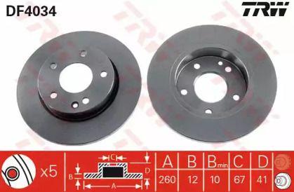 Тормозной диск 'TRW DF4034'.