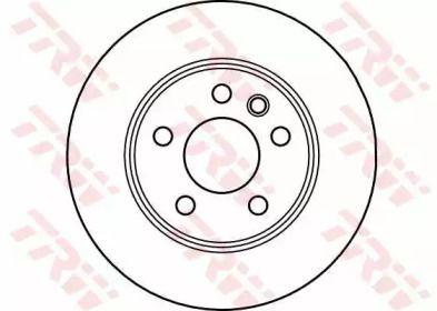 Тормозной диск на VOLKSWAGEN KOMBI 'TRW DF4047'.