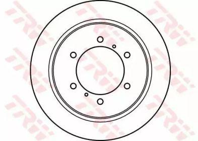 Тормозной диск на MITSUBISHI L300 'TRW DF4075'.