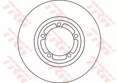 Вентилируемый тормозной диск на Митсубиси Л400 'TRW DF4102'.