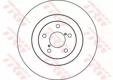 Вентилируемый тормозной диск на Субару ХВ 'TRW DF4104'.