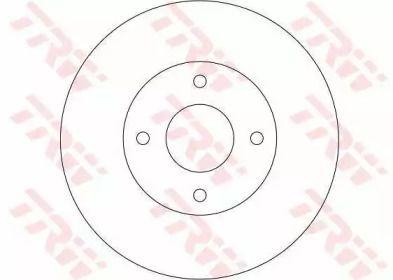 Вентилируемый тормозной диск на NISSAN BLUEBIRD 'TRW DF4169'.