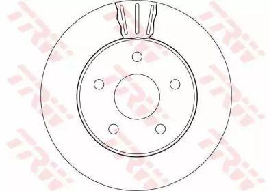 Вентилируемый тормозной диск на Джип Гранд Чероки 'TRW DF4170'.