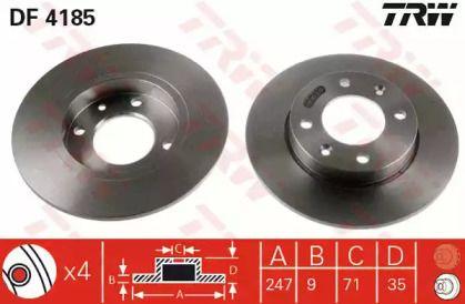 Тормозной диск 'TRW DF4185'.