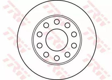 Тормозной диск на SEAT EXEO 'TRW DF4186'.