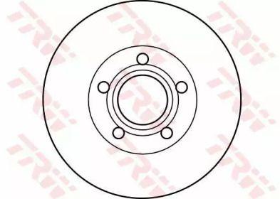 Вентилируемый тормозной диск на VOLVO S70 'TRW DF4238'.